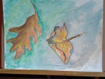 leaves watercolour 2015